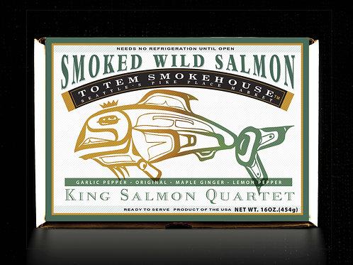 16 oz Smoked Wild King Salmon Flavor Combination Gift Box