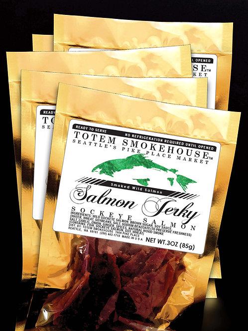 5-3 oz Wild Sockeye Salmon Jerky