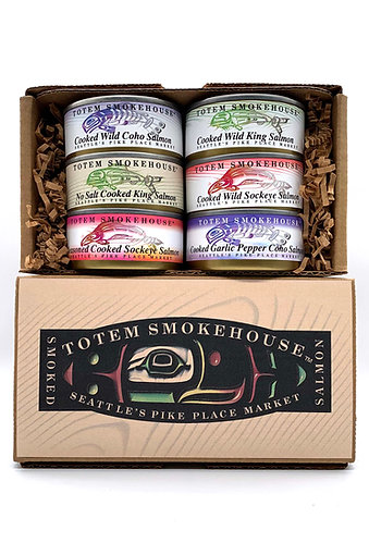 18 oz Canned Cooked Wild Salmon Sampler Gift Box