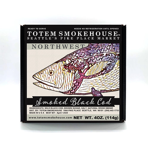 4 oz Smoked Black Cod Gift Box