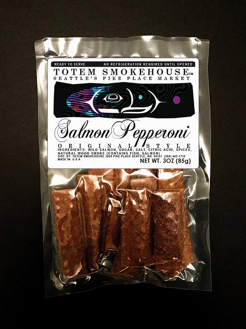 3 oz Original Style Wild Salmon Pepperoni