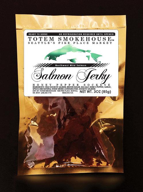 3 oz Honey Pepper Wild Sockeye Salmon Jerky