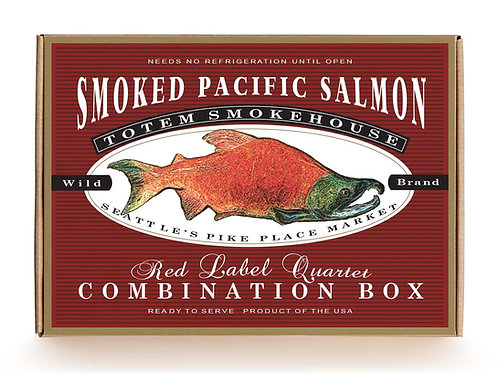 16 oz Red Label Quartet Mixed Salmon and Flavor Combination Gift Box