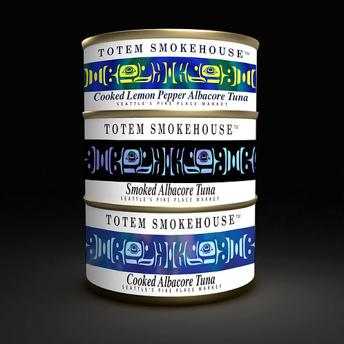3 Large Can (6 oz, 6.50 oz, 7.75 oz)  Cooked & Smoked Albacore Tuna Combination