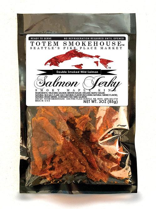 3 oz Smoky Maple Wild King Salmon Jerky