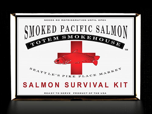 12 oz Salmon Survival Kit of Wild King, Sockeye & Copper River Salmon Fillets