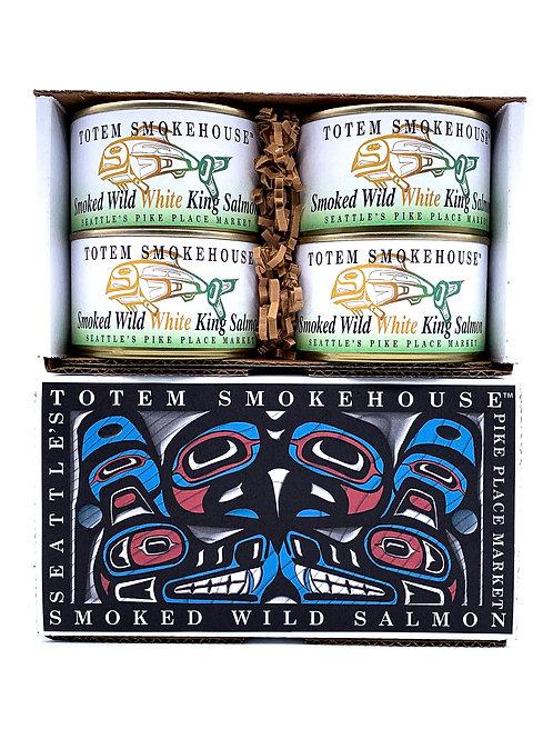 26 oz Smoked Wild White King Salmon Gift Box