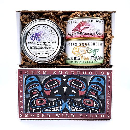 18.50 oz Smoked Salmon Variety Gift Box