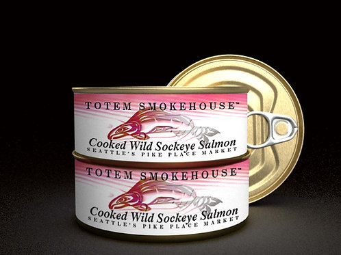 3-3.5 oz Cooked Wild Sockeye Salmon