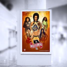 Wrestlmania 36 Indoor Poster 2