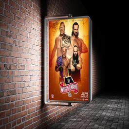 Wrestlemania 36 City poster