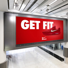 Free Shopping Mall Digital Ad Mockup PSD