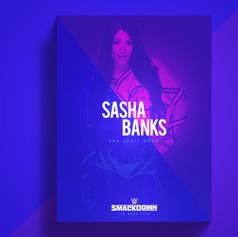 Sasha WWE flyer