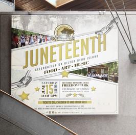 Juneteenth Building banner