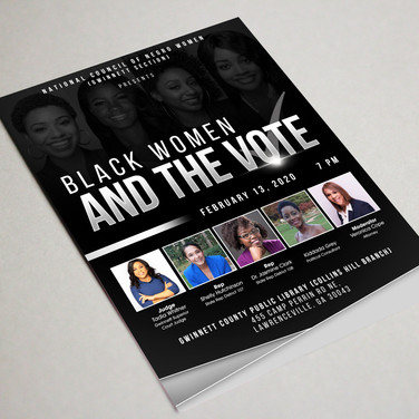 Black Women and the VOTE flyer