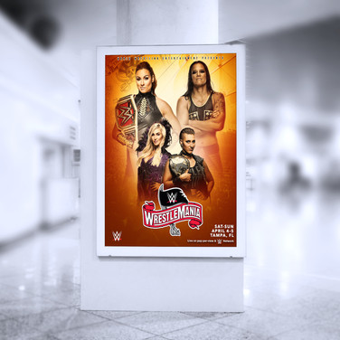 Wrestlmania 36 Indoor poster
