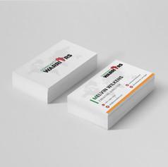 Community Warriors business card