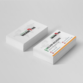 Community Warriors business card