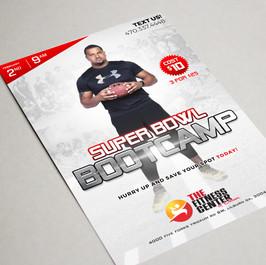 Super Bowl Bootcamp flyer