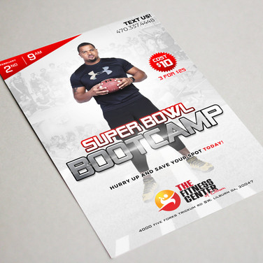 Super Bowl Bootcamp flyer