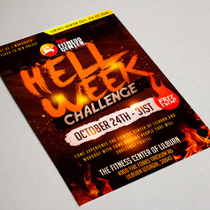 Hell Week Fitness flyer