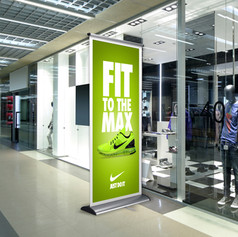 Roll Up Nike Banner
