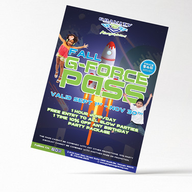 G-FORCE Pass flyer