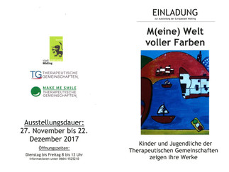 """Veranstaltungshinweis: Einladung zur Ausstellungseröffnung """"M(eine) Welt voller Farben"""" am"""