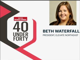 Boston Business Journal Includes Beth Waterfall on 2018 40 Under 40 List