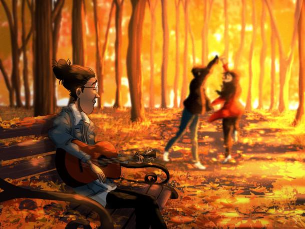 Danse d'autumne