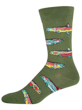 Trout- Parrot Green