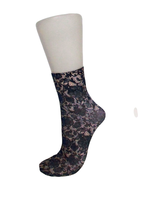 Navy Lace - Ankle Socks