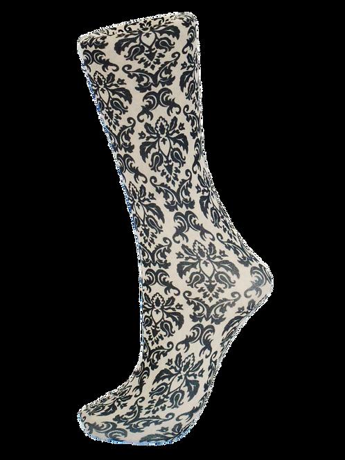 Damask Black on Tan-Trouser Socks