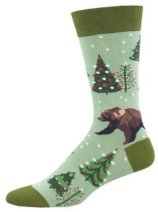 Beary Christmas - Green Heather