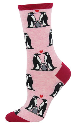 Penguin Love - Pink Heather