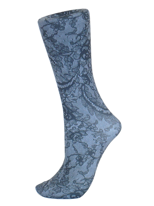 Midnight Lace -Trouser Socks