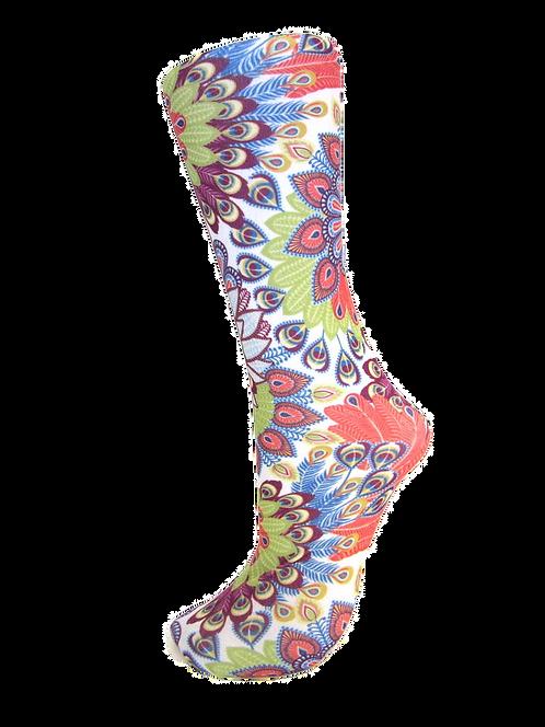 Bright Peacock -Trouser Socks