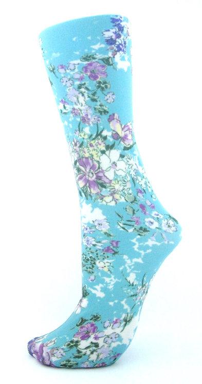 Klara Turquoise -Trouser Socks