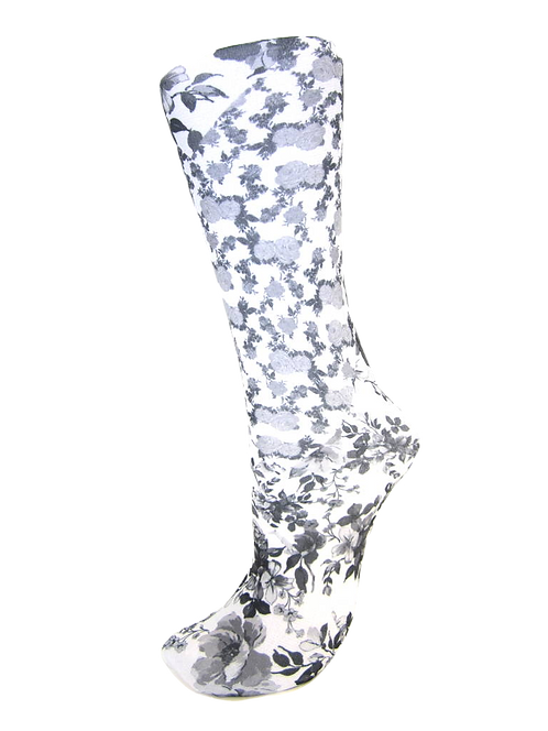 White Climbing Roses - Compression Socks