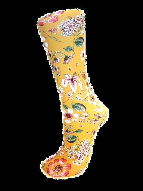 Prairie Flowers Gold - Compression Socks