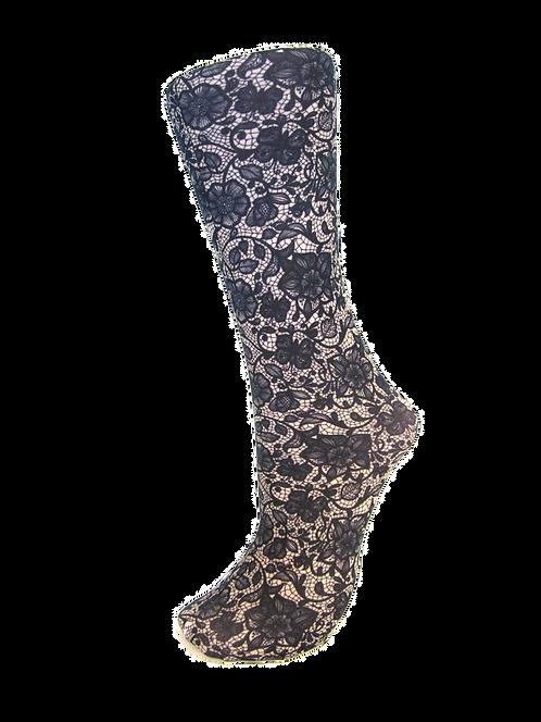 Navy Lace - Compression Socks