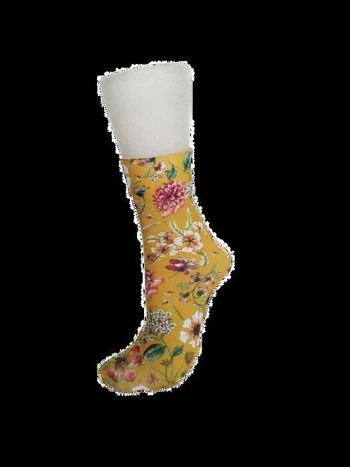 Prairie Flowers Gold - Ankle Socks