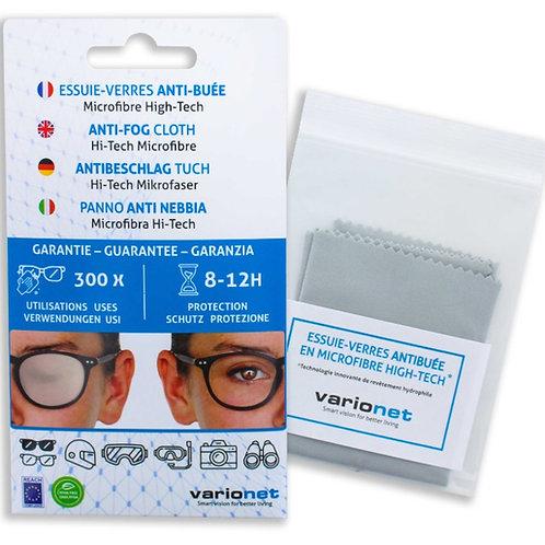 Essuie-verres anti buée VARIONET 15 X 18 cm microfibre