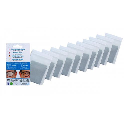 Lot de 10 Essuie-verres anti buée VARIONET 15 X 18 cm microfibre