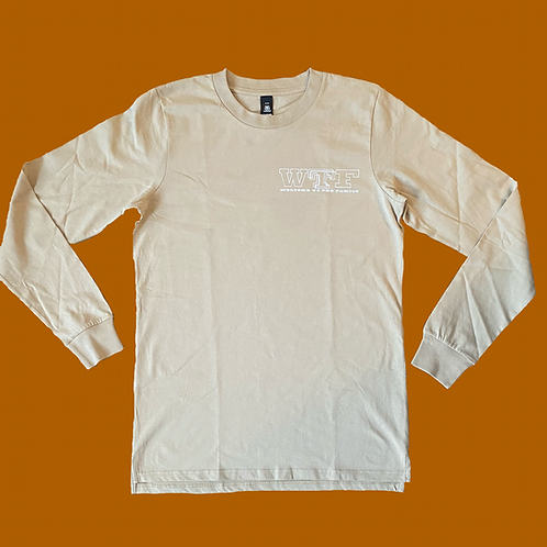 WTF Welcome To The Family Long Sleeve Tee - Beige
