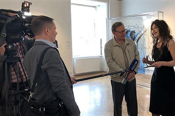 Russisches Museum Sankt Petersburg / TV Interview Nationaler Sender