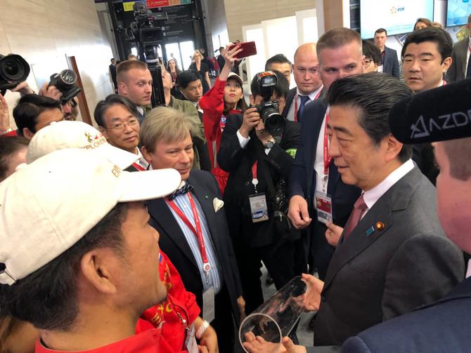 Bolenz-Kunstwerk für Japans Premierminister Shinzo Abe