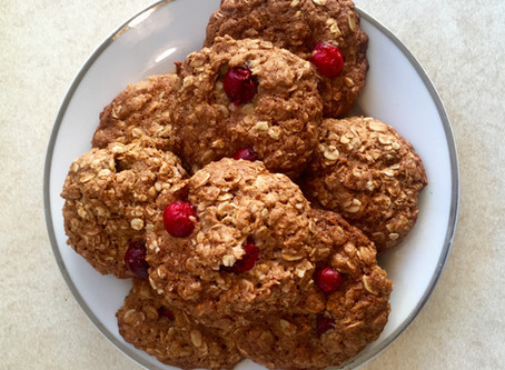 Cranberry Anzac cookies