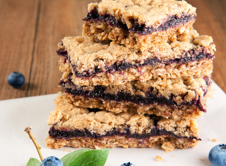 Blueberry Oat Slice