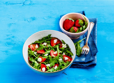 Strawberry, Feta and Almond Salad